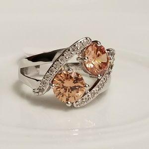 🆕️Sterling Silver  - 1ct Morganite Ring Sz 9